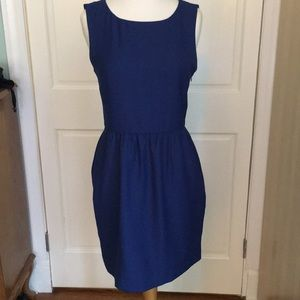JCrew Blue Sleeveless Shift Dress w/Pockets Sz. 2